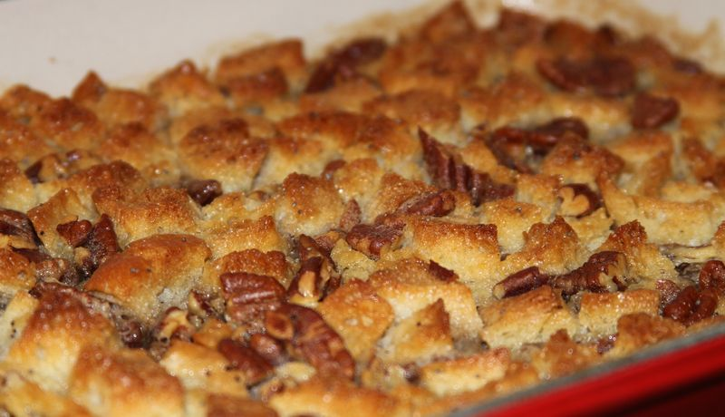 Pecan, Bourbon and Butterscotch Bread Pudding - StyleNectar