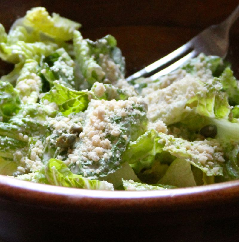 Caesar Salad With Cashew Parmesan Cheese Stylenectar